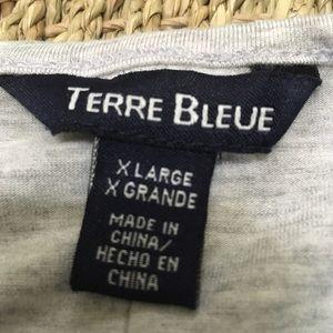 Terre Bleue Tops - EUC TERRE BLEUE Pretty & Comfy Criss-Cross Tunic